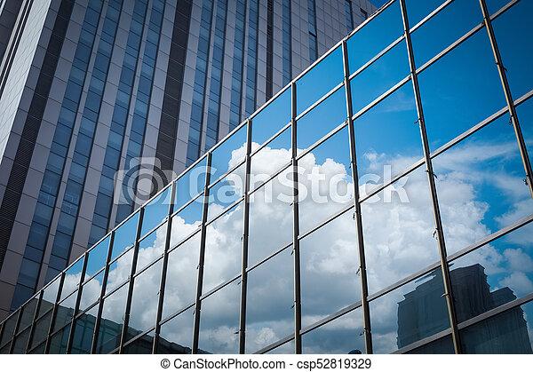 Glass Curtain Wall Closeup