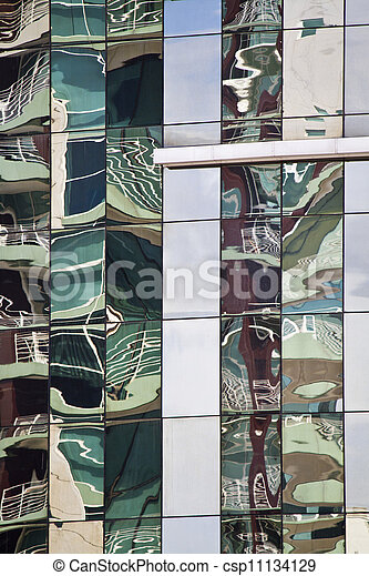 glass detail of modern building - csp11134129