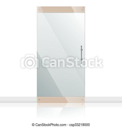 Glass Doors Clipart vector clipart of glass door with chrome silver handles set