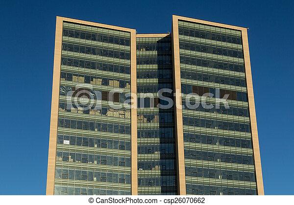 glass exterior modern office. Glass Exterior Of A Modern Office Building - Csp26070662 E