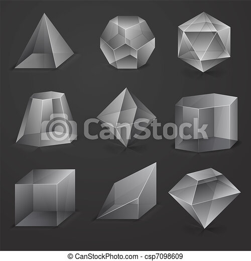 Glass figures - csp7098609