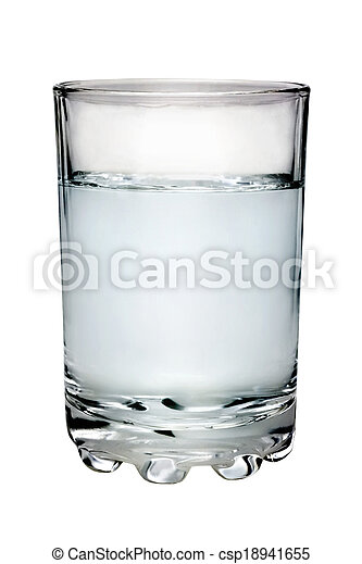 glass filled with water - csp18941655