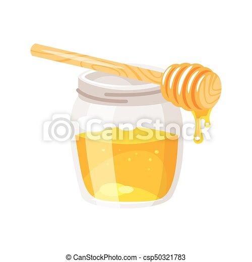 glass honey jar. - csp50321783