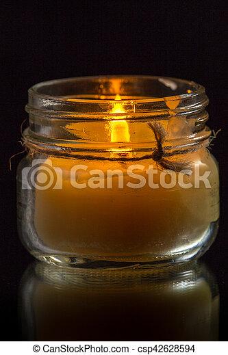 Glass Jar Candle #5 - csp42628594