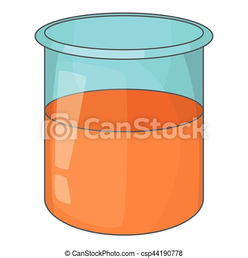 Glass jar icon, cartoon style - csp44190778