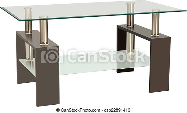 Glass Living Room Table - csp22891413