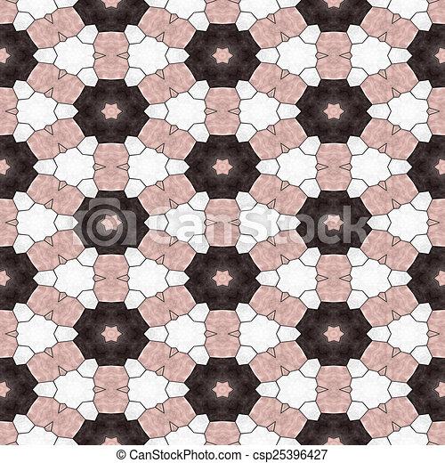 Glass mosaic kaleidoscopic seamless generated hires texture - csp25396427