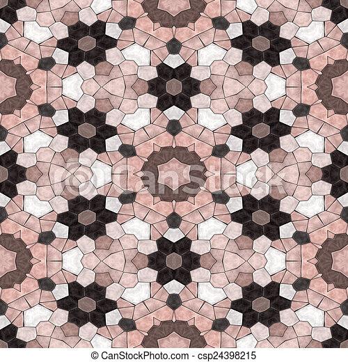 Glass mosaic kaleidoscopic seamless generated hires texture - csp24398215