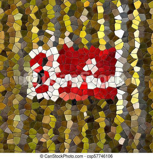 Glass mosaic kaleidoscopic seamless generated hires texture - csp57746106