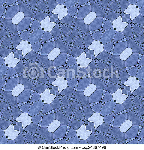 Glass mosaic kaleidoscopic seamless generated hires texture - csp24367496