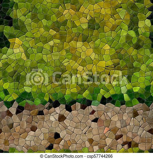 Glass mosaic kaleidoscopic seamless generated hires texture - csp57744266