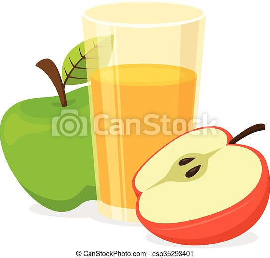 glass of apple juice healthy natural drink isolated on vector rh canstockphoto com apple juice box clipart apple juice clipart free