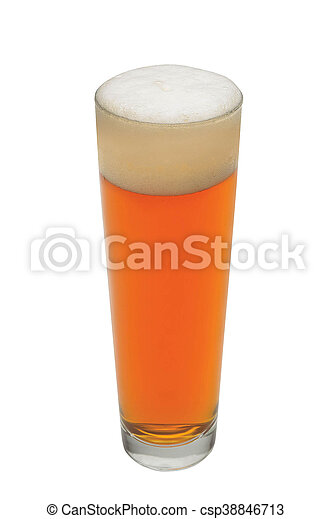 Glass of beer isolated - csp38846713
