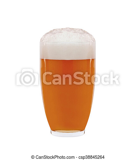 Glass of beer isolated - csp38845264