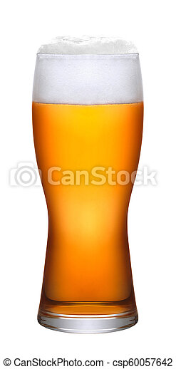 Glass of beer isolated - csp60057642