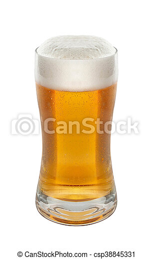 Glass of beer isolated - csp38845331