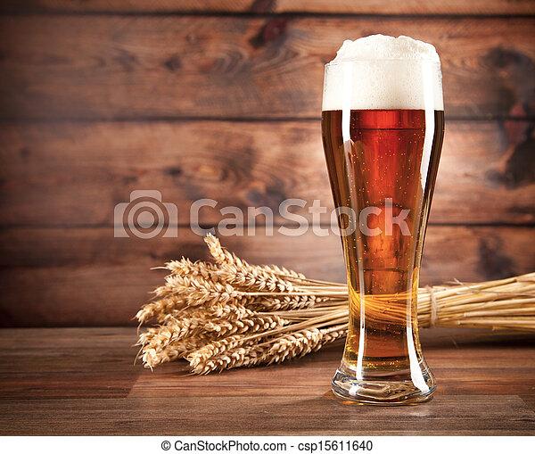 Glass of beer - csp15611640
