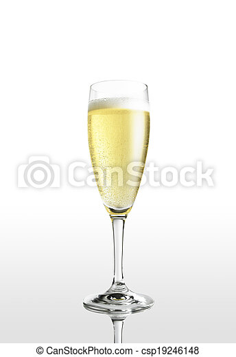 glass of champagne - csp19246148