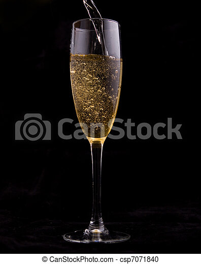 Glass of champagne. - csp7071840