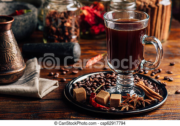 Glass of Coffee with Spices. - csp62917794