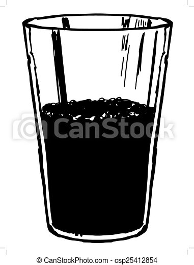 glass of cola - csp25412854