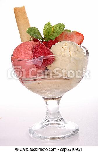 glass of ice cream - csp6510951