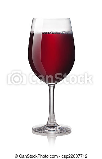 Glass of red wine - csp22607712