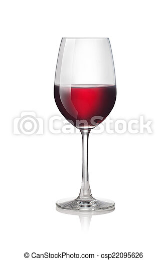Glass of red wine - csp22095626