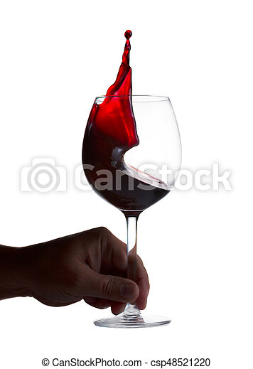 Glass of red wine - csp48521220