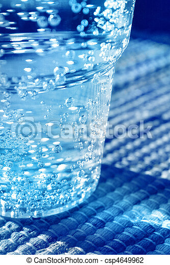 Glass of sparkling water - csp4649962