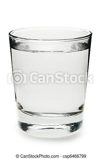 Glass of water on white background - csp6466799