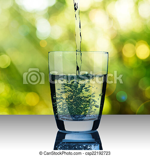 Glass of Water - csp22192723