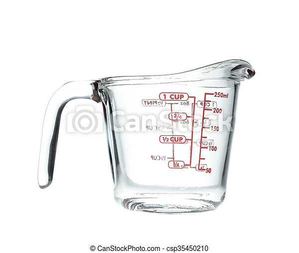 Glass pitcher of water isolated on white - csp35450210