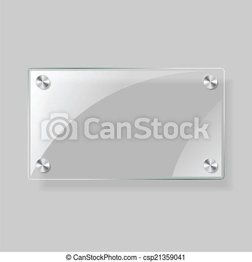 Glass rectangle  plane - csp21359041