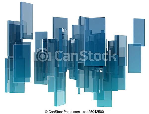 glass rectangles - csp25042500
