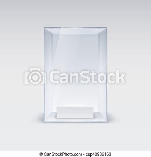 Glass Showcase - csp40936163