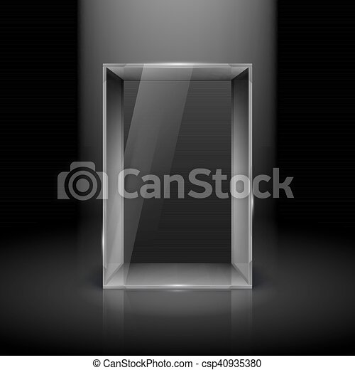 Glass Showcase - csp40935380