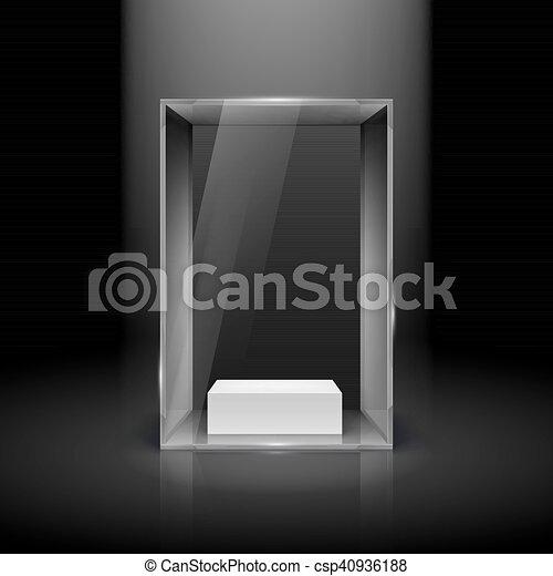 Glass Showcase - csp40936188