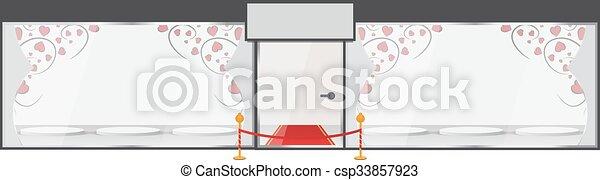 Glass showcase. Vector illustration - csp33857923