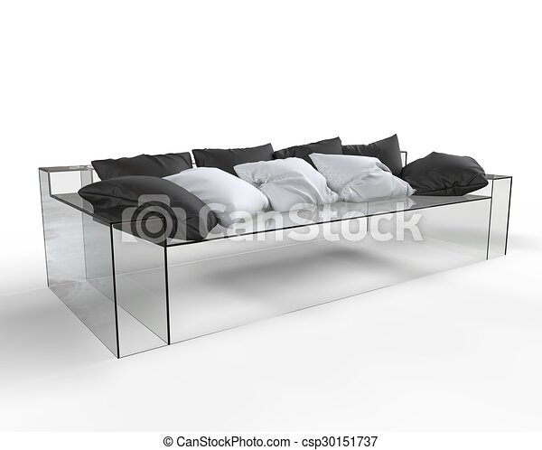 glass-sofa-with-bw-pillows-drawings_csp3