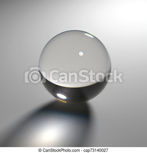 Glass sphere with caustic light - csp73140027