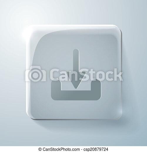 Glass square icon. download - csp20879724