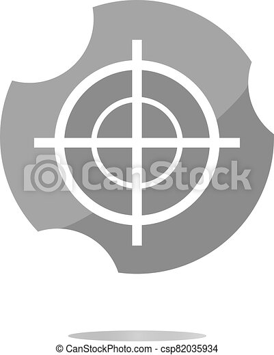 glass target web icon, button isolated on white background - csp82035934