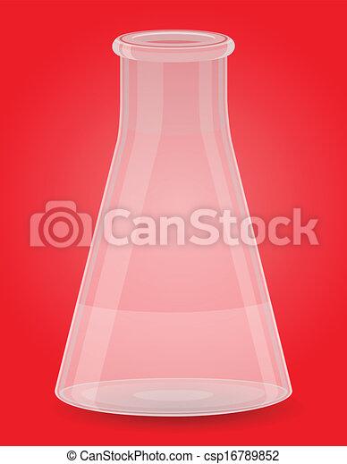 glass test tube vector illustration - csp16789852