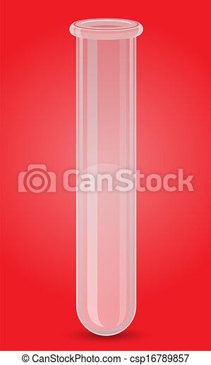 glass test tube vector illustration - csp16789857