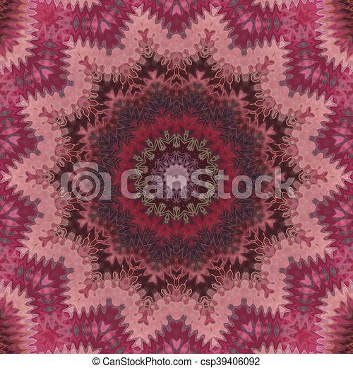 Glass vitrage mosaic kaleidoscopic seamless pattern - csp39406092