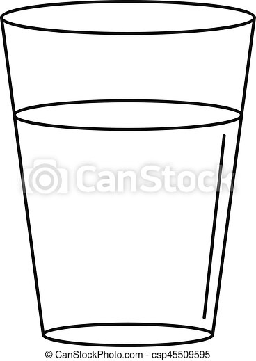 glass water icon outline style glass water icon outline eps rh canstockphoto com empty glass of water clipart glass of water clipart black and white