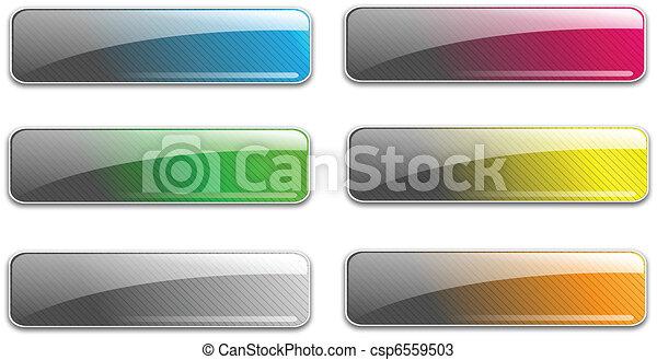 Glass web buttons - csp6559503