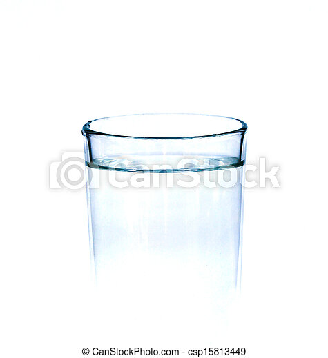 Glass with water isolated on white. - csp15813449