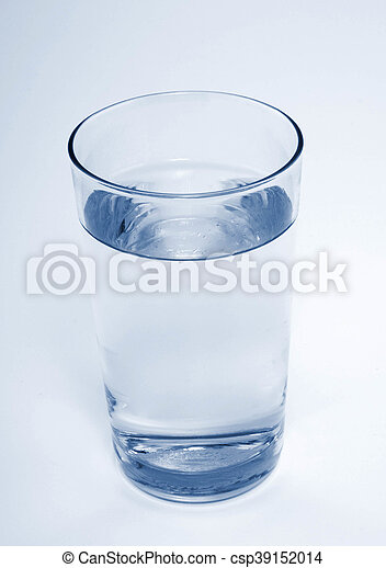 Glass with water on white background - csp39152014